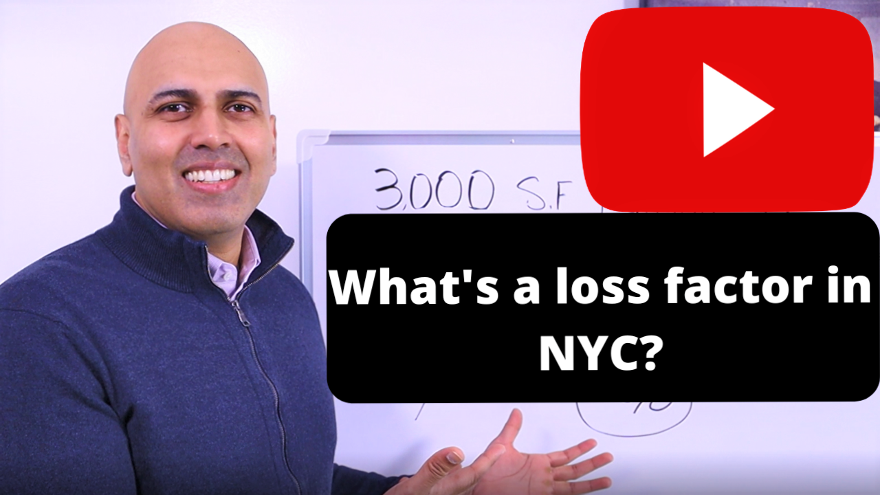 What is a loss factor for office space in NYC?