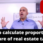 How to calculate proportionate share of real estate taxes for office space in NYC?